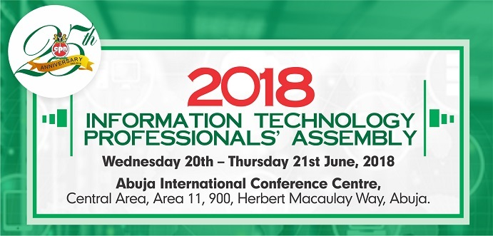 Image result for 2018 INFORMATION TECHNOLOGY PROFESSIONALS ASSEMBLY 24th ANNUAL GENERAL MEETING of COMPUTER PROFESSIONALS (REGISTRATION COUNCIL) of NIGERIA (CPN) at Abuja International Conference Centre.